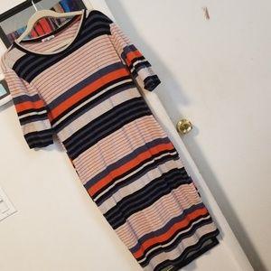 Charlotte Russe Dresses - Striped midi t shirt dress